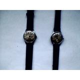 2 Relojes Vernal Caballero De Cuerda- Suiza Acero Inoxidable