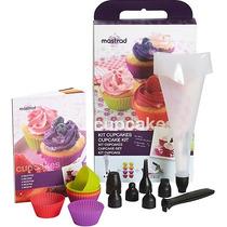 Kit 8 Formas De Cupcake + Bico Dosador E 6 Moldes - Mastrad