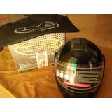 Casco Integral Abatible Iv2 Helmets Dot Negro Talla L