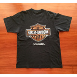 Camiseta Usada - Harley Davidson Colombia - Promo 2002
