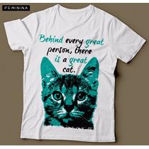 Camiseta Com Estampa De Gato Great Cat Feminina