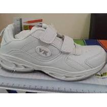 Zapatos Escolares Deportivos Blancos Y Negros Vita Kids