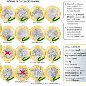 Kit 9 Moedas Olímpicas - Olimpíadas - Moeda - Rio 2016