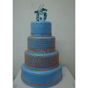Bolo Maquete Azul Celeste - Festa 15 Anos
