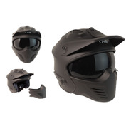 Casco Tech X-2 Cafe Racer Certificado Dot Modular Con Visera