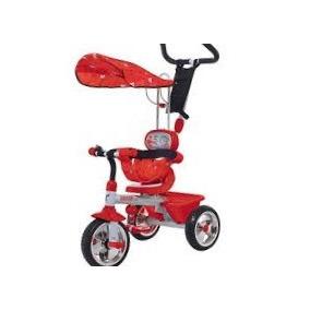 Triciclo Carrito 3 En 1 Mega Rojo Biemme 3 Rued Importado !