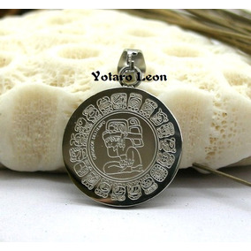 Dije De Acero Inoxidable Calendario Maya, Pendiente Regalo