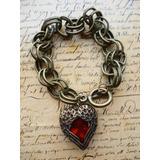 Corazon De Mama,madre Vintage Aretes,anillo,pulsera Lindo