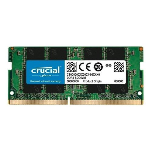 Memoria RAM color Verde  8GB 1 Crucial CT8G4SFS8266