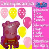 Globos Para Decorar Fiesta Peppa Pig La Cerdita