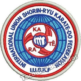 Patch Bordado Karate Shorin-ryu 8x8cm Para Kimono Esp82