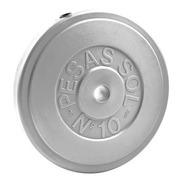 Discos Pesas Sol Recubiertos 10 Kg Gym Sport Maniac Fitness
