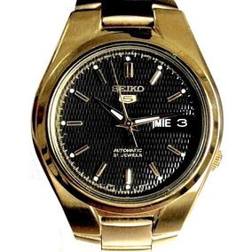 Relógio Seiko Automático Masculino Folhado A Ouro Snk612k1