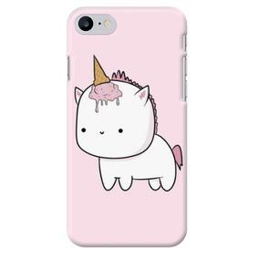 5e7c8f08d30 Funda Case Iphone 4 5 Se 6 7 8 Plus Unicornio Baby Rosa