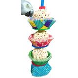 Bonka Bird Toys 1931 3cake Bird Toy Forrajeo Loro Jaula J