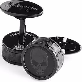 Montegrappa Fortuna Skull Cufflinks Round Acero Pv Diego Vez