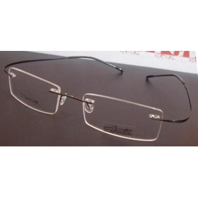 68d2848a02afa Armação Oculos Grau Feita De Titanium Preta Sem Aro A525 - Calçados ...