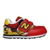 Tênis New Balance 574 Graffiti Pack Infantil Vermelho