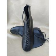 Zapatos/botines Artesanales Negros  Dama