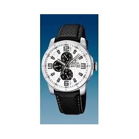 Reloj Festina De Cuarzo F16585 Correa Piel