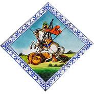 Quadros Azulejos , São Jorge Tamanho 30 X 30 Cm