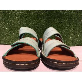 Sandalias De Dos Tiras Regulables Todo Cuero Y Base Febo