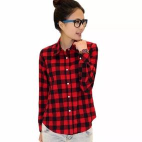 Camisa Xadrez Blusa Feminina - Importado