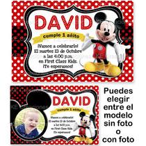Invitaciones Kit Imprimible Mickey Mouse Disney Fiesta