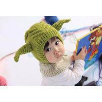 Adorable Gorro Tejido Para Bebe: Monstruo Alienigena Elfo