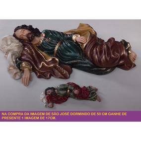 Imagem São José Dormindo 50cm Em Resina - Lindo Acabamento !