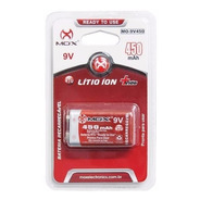 Bateria Recarregavel 9v De Litio Ion Mox 450ma Microfone Rtu