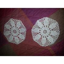 Carpetas Redondas Color Natural Tejidas Al Crochet