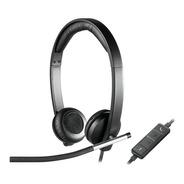 Headset Logitech H650e Stereo Usb Com Controle De Volume