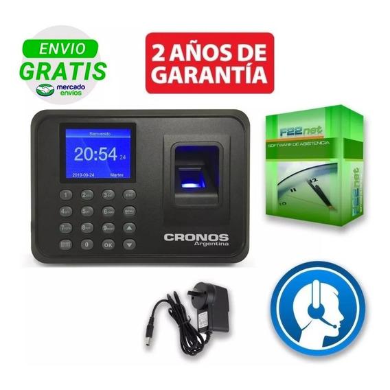 Reloj Cronos Biométrico Huella Control Horario Asistencia