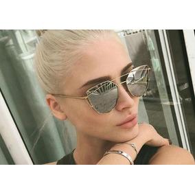 315d3744a3c9b Oculos Feminino Espelhado Azul Gatinho - Óculos De Sol Sem lente ...