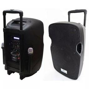 Caixa Som Amplificada 1800w 120rms Bluetoot Bat Interna 2mic