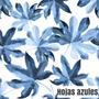 hojas azules