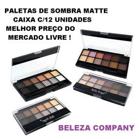 Paletas De Sombra Matte Caixa Atacado C/ 12 Belle Angel