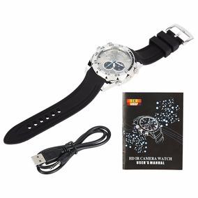 Relógio Com Camera Escondida Camuflada & Filmagem Noturna