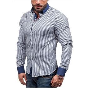 Camisa Social Slim Fit Estilo Dubai Frete Grátis Para 2un
