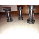 Pata Plástico Negro Mueble Cocina Regulable 10 A 15 Cm