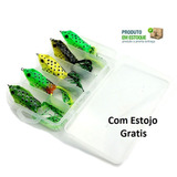 Kit Com 5 Isca Artificial Sapo Frog Anti Enrosco Para Traira