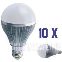 10 Lampada Led 7w Bulbo Bivolt E27 90% Mais Econômico Bivolt