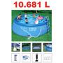 Piscina Intex 10681 Litros Completa Bomba Filtro Escada Capa