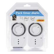 Temporizador Eléctrico Pack 2 Timer Diario House Safe