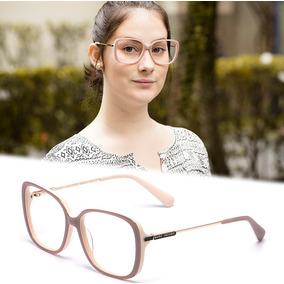 Armação Oculos P/ Grau Feminino Mj20 Acetato Metal Original