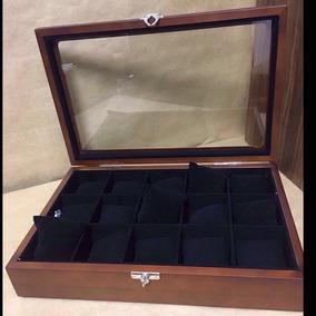 Caixa Estojo De Madeira Organizadora Para 15 Relógios