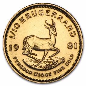 Sudáfrica - Krugerrand Año 1982 - Moneda De Oro - 1/10 Onza