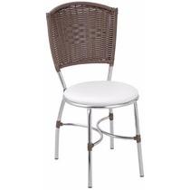 Cadeira Banqueta Tubular Giovana Kit 02un - Fibra Sintética