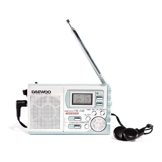 Radio Digital Am/fm Portatil Daewoo Dmr-521e C/ Auriculares